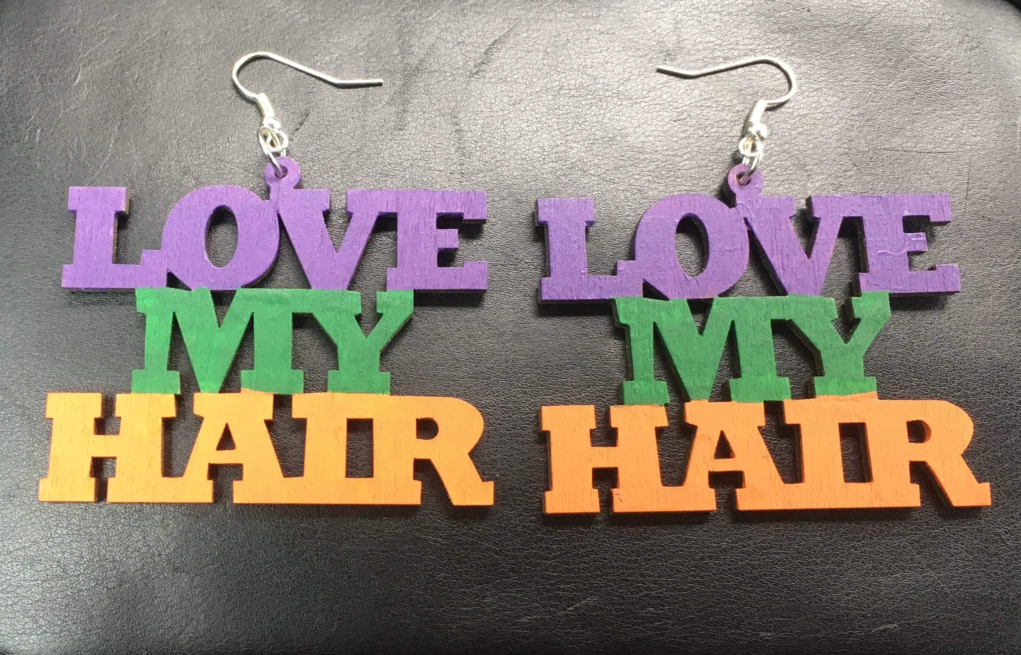 Love My Hair Earrings - Natural Couture