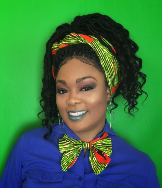 African Print Headwrap - Natural Couture