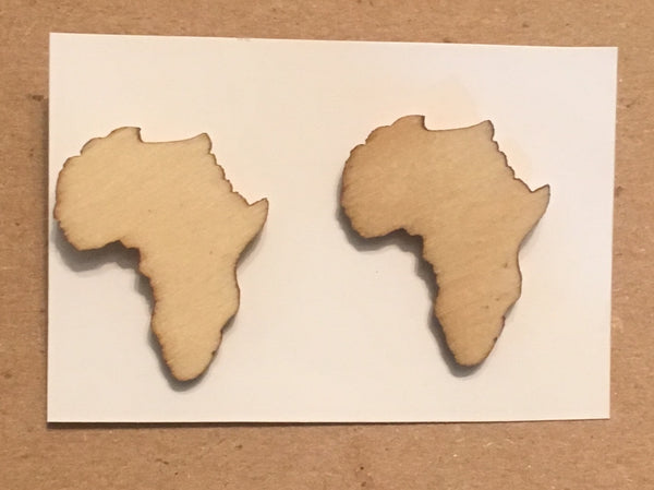 African Map Stud Earrings