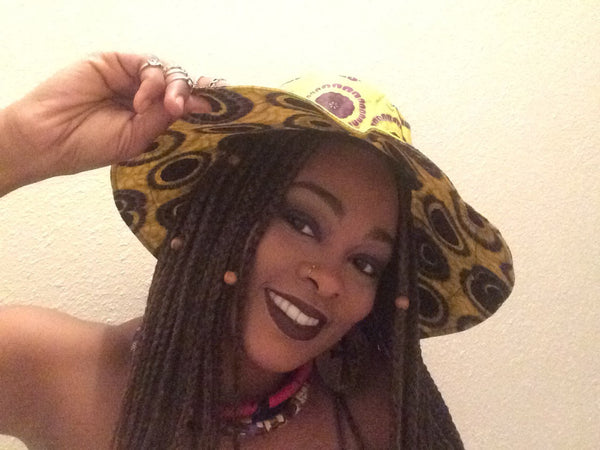African Wax Print Goddess Hat