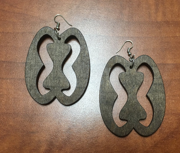 Adinkra Symbol Large Earrings