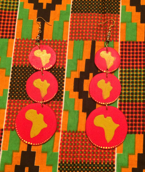 African Love Earrings
