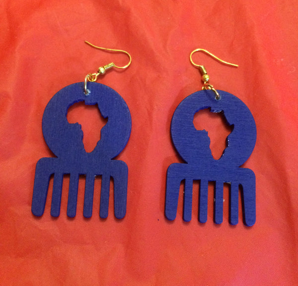 Royal Blue Duafe Earrings