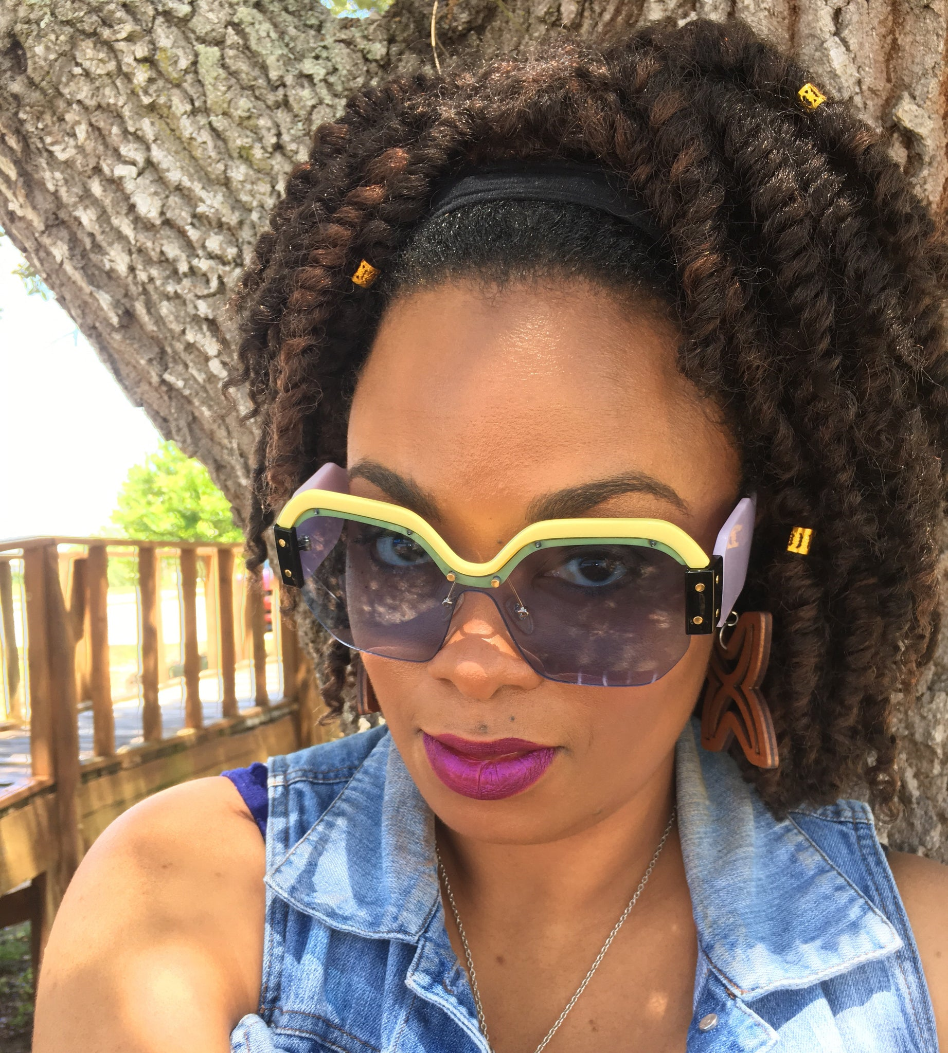 Touch of Color Sunglasses - Natural Couture