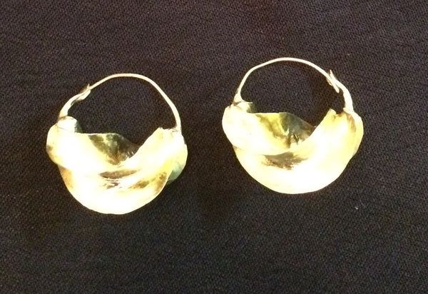 "Fula Gold Earrings 1"" - Natural Couture"