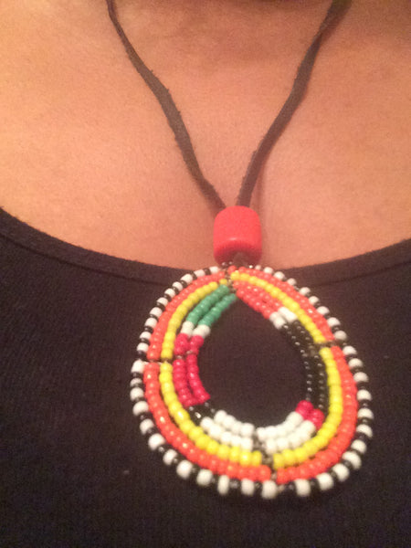 Maasai Beaded Necklace - Natural Couture