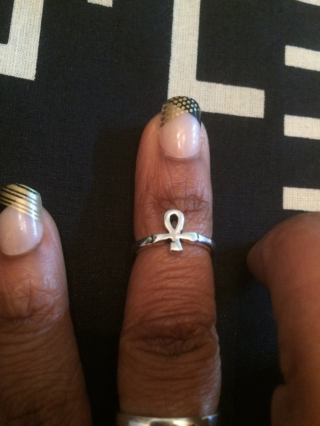 Ankh Midi Ring - Natural Couture