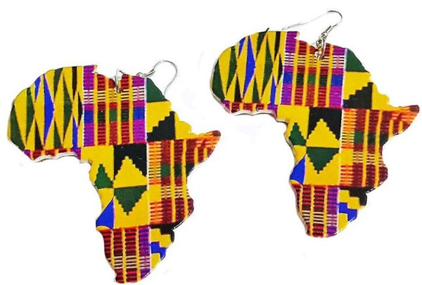 Kente Africa Earrings - Natural Couture