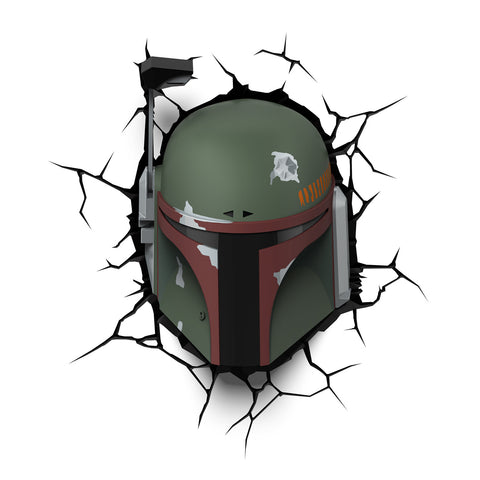 Star Wars 3D Night and Deco Light - Boba Fett - 3DLightFX battery operated LED lamp