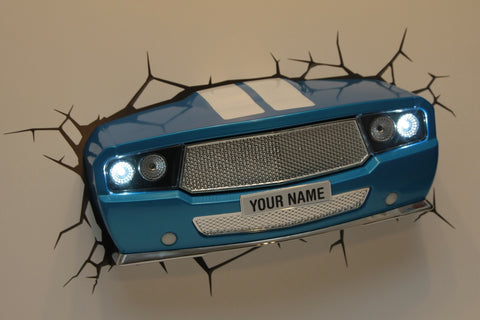 3D Classic Car Light (Blue) Night and Wall Light 3DLightFX LED Lamp Oldtimer battery operated