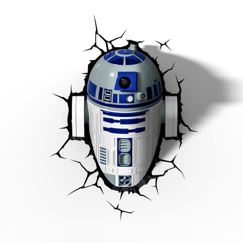 Star Wars 3D Night and Deco Light - R2D2 - 3DLightFX battery operated LED lamp R2-D2