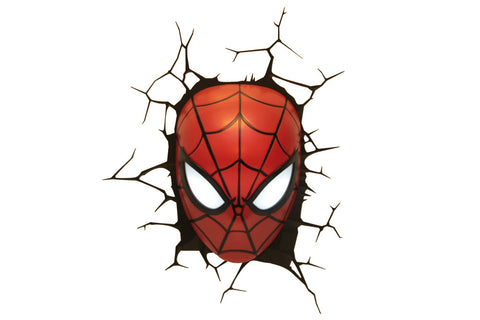 Marvel The Avengers 3D Nachtlicht Spiderman Face LED Lamp 3DLightFX battery operated