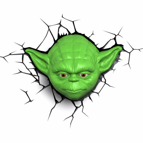 Star Wars 3D Night and Deco Light - Yoda the Jedi Master - 3DLightFX battery operated LED lamp