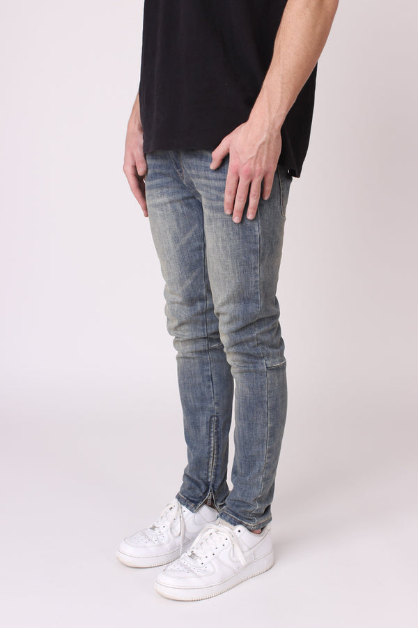Blue Oil Washed Denim