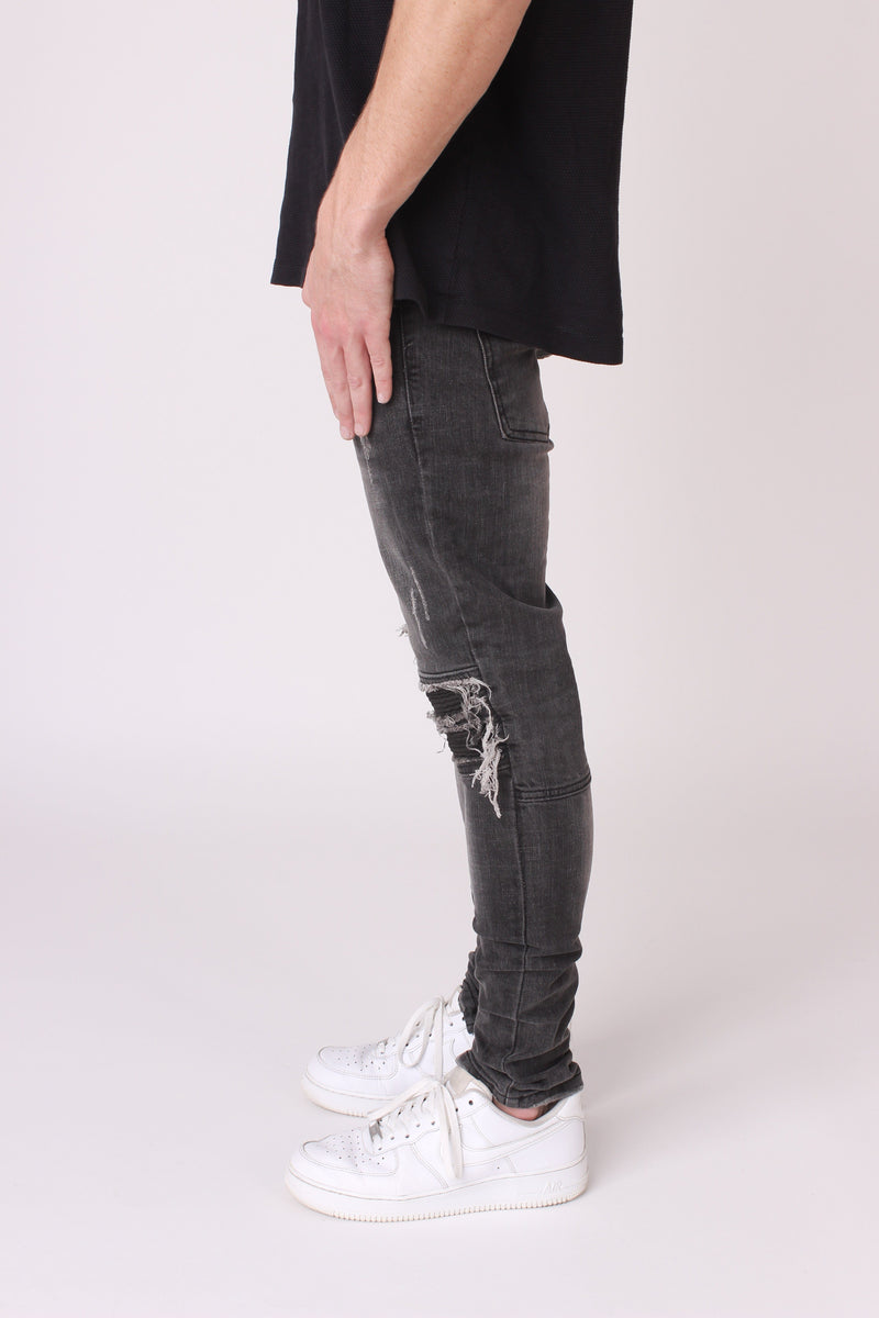 Black Washed-Out Denim