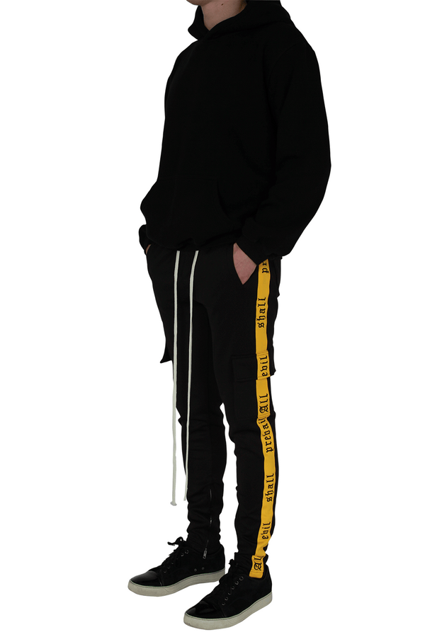 All Evil Shall Prevail - Black & Yellow Cargo Joggers