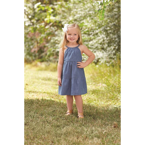 Mud Pie Denim Braided Dress