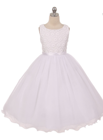 Kid's Dream Rose Embroidered Dress