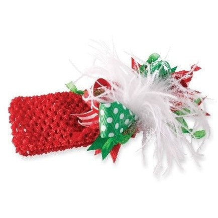 Mud Pie Crochet Ostrich Christmas Headband