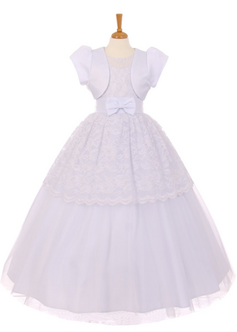 Kid's Dream Lace Overlay Dress
