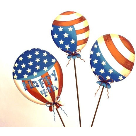 Round Top Happy 4th Large Balloons - Asst 3