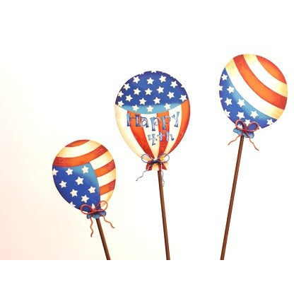 Round Top Happy 4th Small Balloons Set of 3