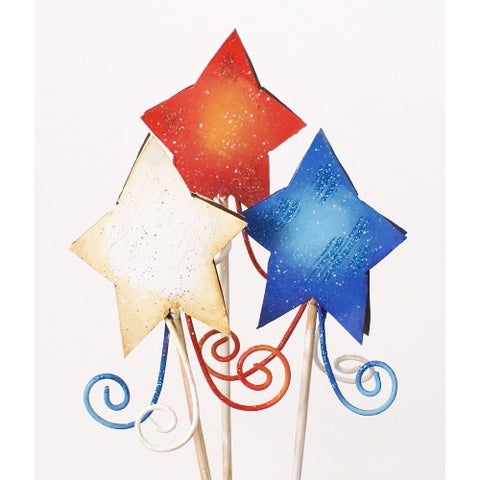 Round Top Shooting Stars Yard Stakes Set of 3