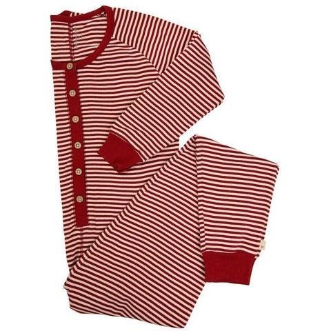 Burt's Bee Womens Organic Candy Cane Stripe Holiday Onesie