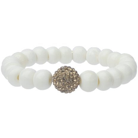 Jam Jewels Bone Bead Shimmer Gold Bracelet