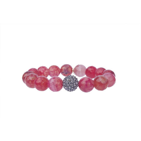 Jam Jewels Red Agate Bracelet