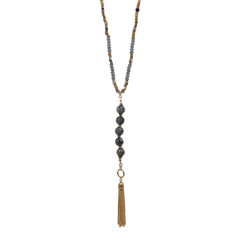 Beaucoup Designs Teragram Tassel Necklace/Bracelet