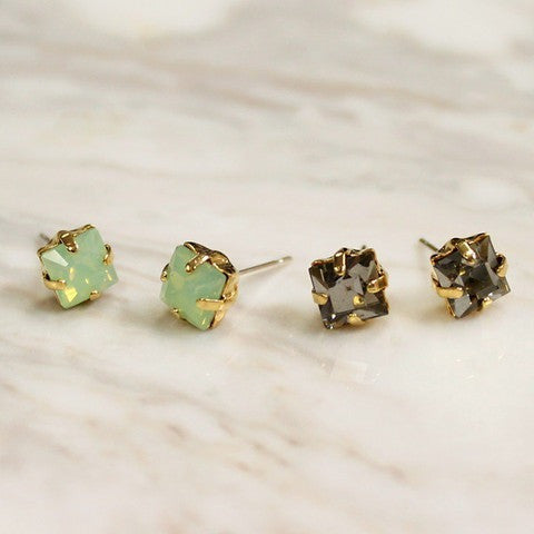 Kris Nations Dulce Square Stud Earrings