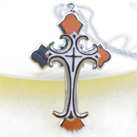 Stylish Metal Christian Cross Pendant with Stainless Chain