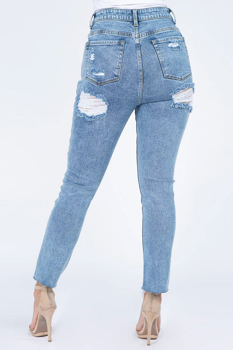 Stone Washed High Rise Skinny Jean
