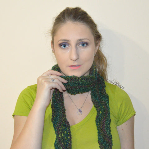Waves of Winter Knit Scarf Knitting Pattern