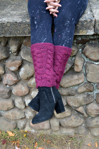 Knit Autumn Cable Legwarmers - Custom Order