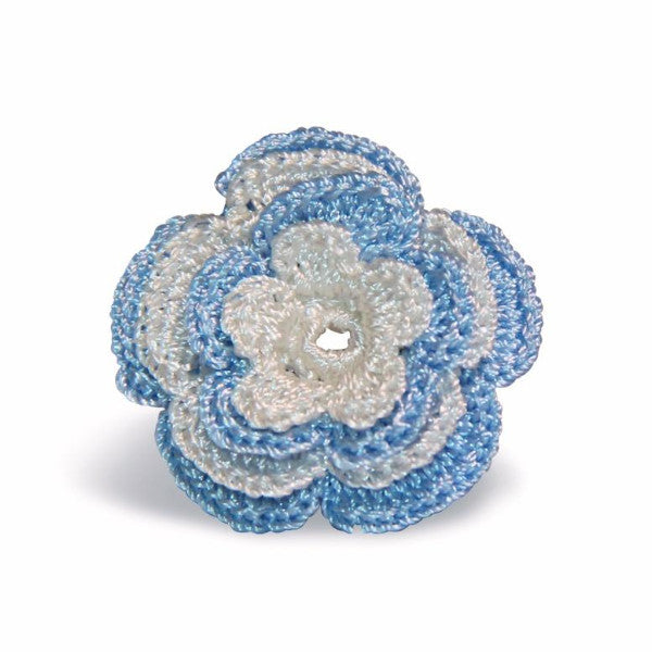 Chelsea Boutonniere in Sky Blue & White