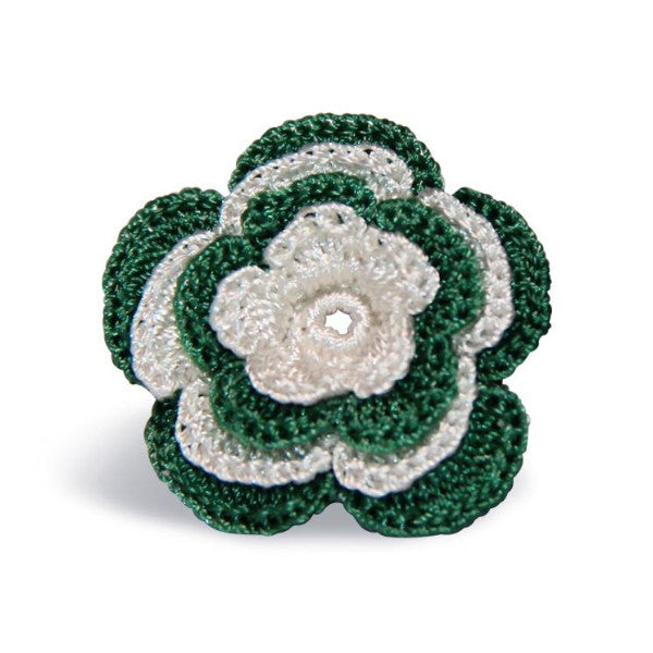 Chelsea Boutonniere in Emerald Green & White