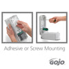 ISE International Singapore_GOJO® ADX-7™ Dispenser installation, adhesive or screw mounting
