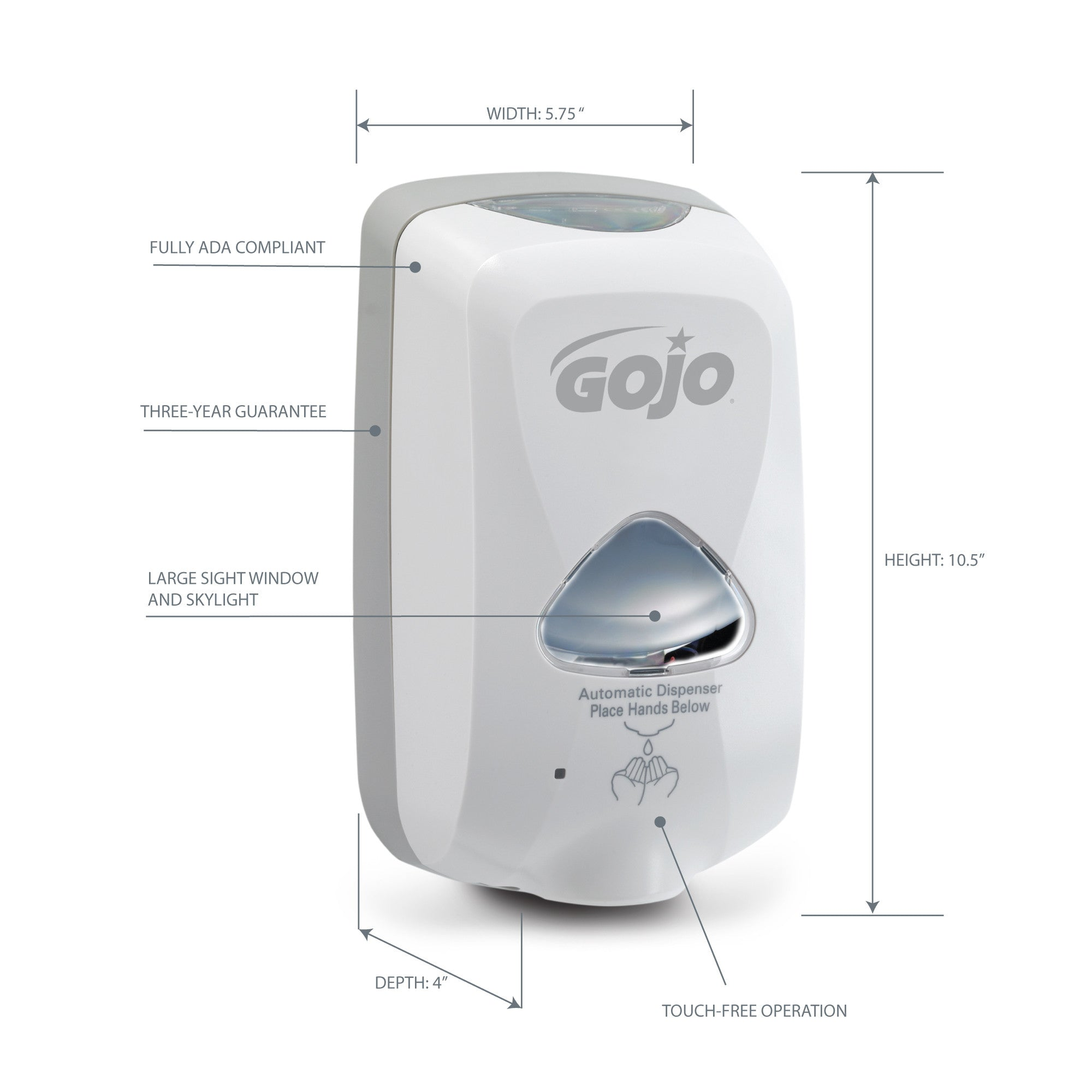GOJO® TFX™ Touch Free Dispenser - Dove Gray
