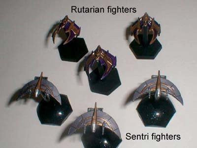 Babylon 5 Wars Centauri Rutarian Strike Fighter