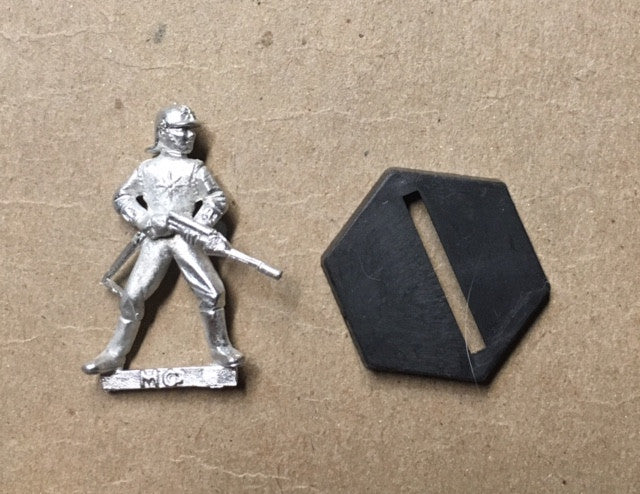 B5 RPG Centauri Republic guardsman figure (raising rifle to shoot)