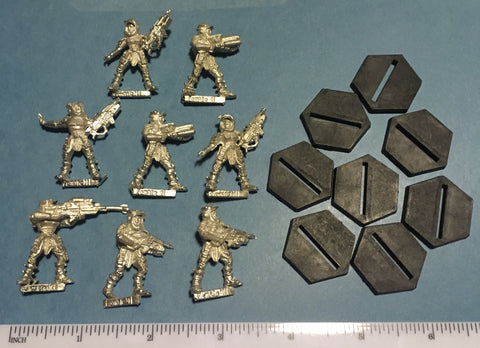 Starship Troopers Mobile Infantry Female Cap Troopers set (8)