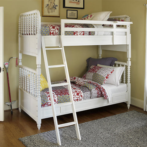 Bellamy Bunk Bed Twin Over Full - Avail in Off-White - Smartstuff -usa baby