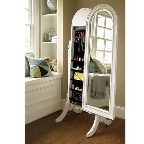 Bellamy Cheval Storage Mirror - Avail in Off-White - Smartstuff -usa baby
