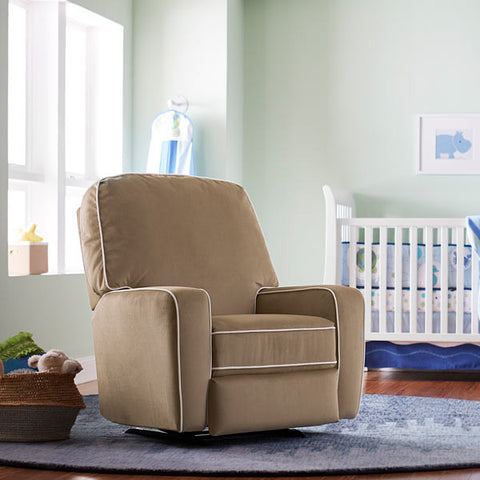 Bilana Swivel Glider Recliner - Avail in Over 80 Fabrics - Best Chairs -usa baby