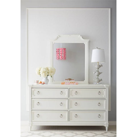 Clementine Court Mirror - Avail in Grey or White - Stone & Leigh -usa baby
