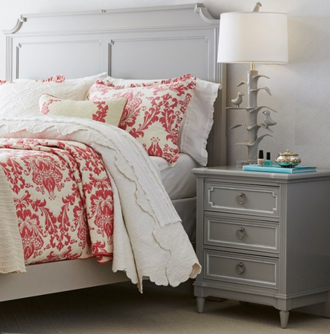 Clementine Court 3 Drawer Nightstand - Avail in Grey or White - Stone & Leigh -usa baby