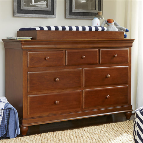 Classics Double Dresser - Avail in White, Cherry or Medium Stain - Smarstuff -usa baby