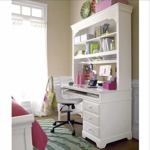 Classics Desk Hutch - Avail in White, Cherry or Medium Stain - Smarstuff -usa baby